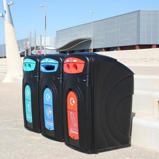 Уличные мусорные контейнеры для раздельного сбора пластика Nexus 360 литров