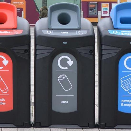 Уличный контейнер корпус на 240 литров для сбора алюминиевых банок NEXUS CITY Glasdon