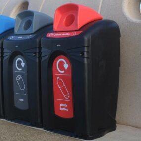 Контейнеры уличные для сбора пластиковых бутылок и алюминиевых банок NEXUS CITY 140