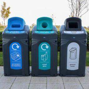 Уличные контейнеры для раздельного сбора бумаги стекла NEXUS CITY 140 Glasdon