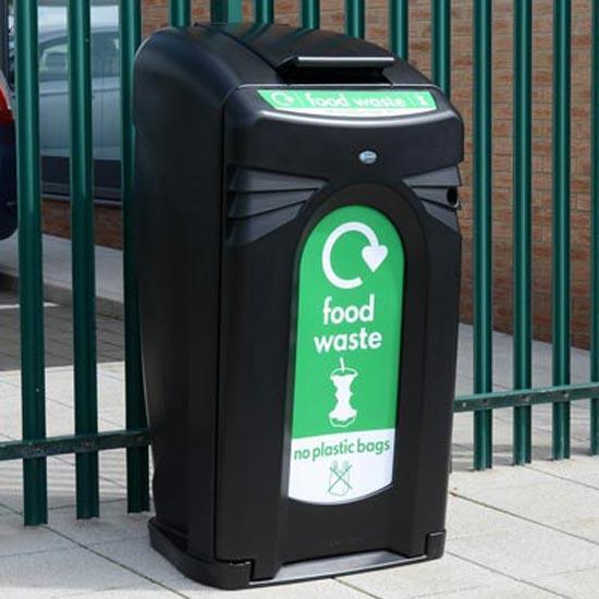 Уличные большие контейнеры для раздельного сбора мусора 240 литров