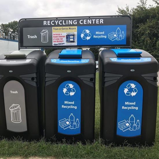 Контейнеры для раздельного сбора мусора уличные GLASDON NEXUS CITY