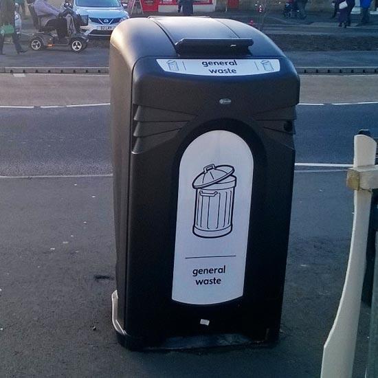 Уличный контейнер для общего мусора закрытый антивандальный NEXUS GLASDON