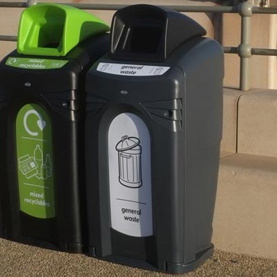 Уличные урн-контейнеры на 140 литров Glasdon Nexus CITY General