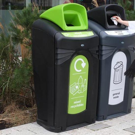 Уличная урна для перерабатываемого мусора NEXUS City 140 Glasdon