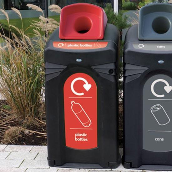 Контейнер для сбора пластиковых банок и бутылок Glasdon NEXUS 140 литров