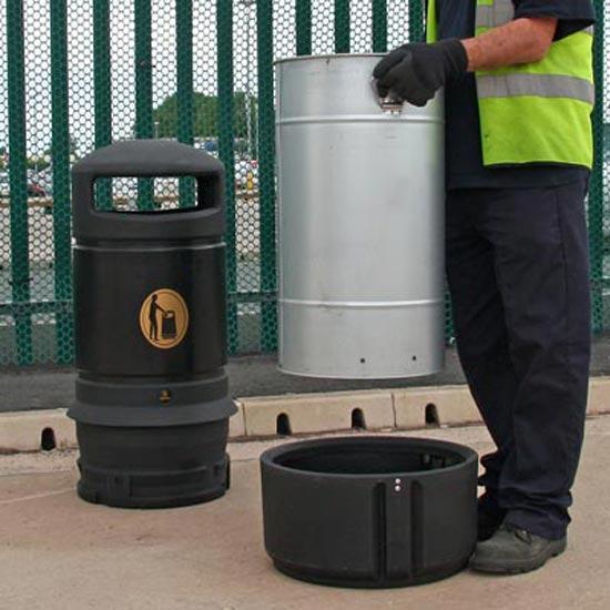 мусорная урна с баком 63 литра закрытый верх Англия