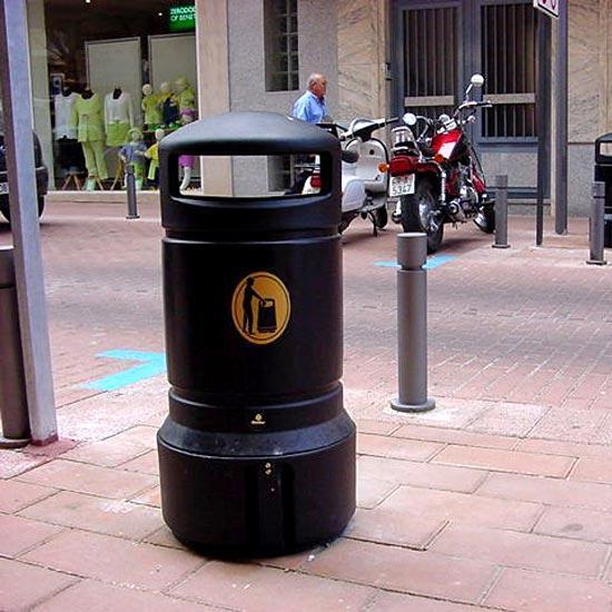 Урна на городской площади Plaza mini glasdon Англия