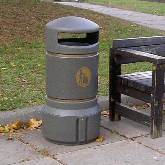Урна в парке Plaza mini Антивандальная закрытая