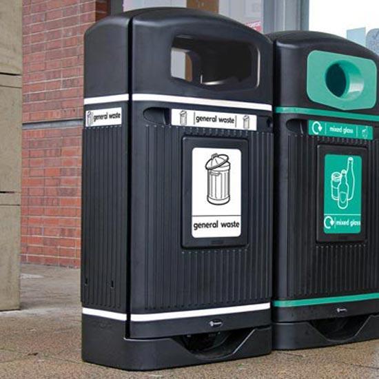 Уличная мусорная урна Glasdom Jubilee streamline для обычного мусора