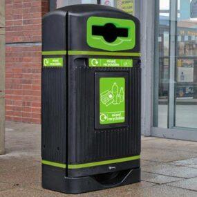 Уличная урна для смешанного бытового мусора Streamline