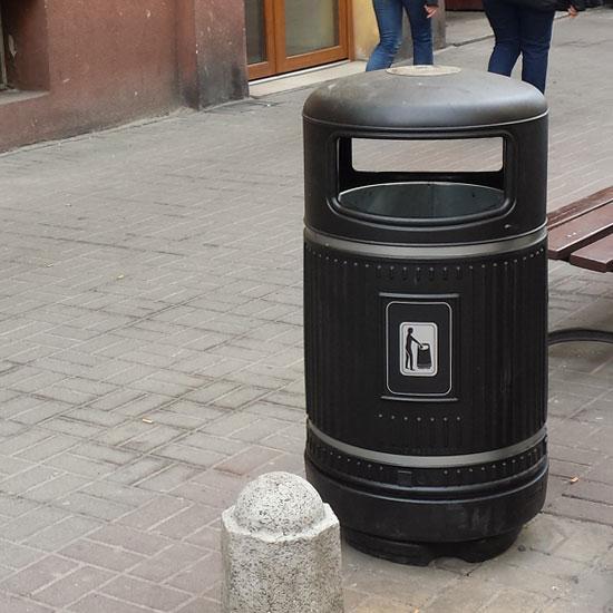Урна для мусора анти вандальная с баком