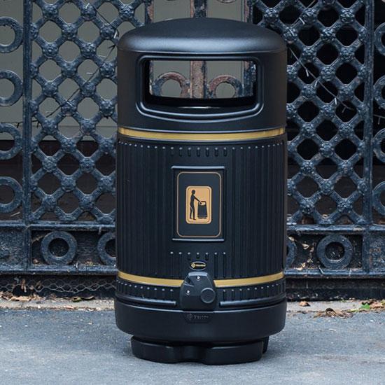 Урна для мусора цилиндрическая уличная антивандальная topsy royal Glasdon
