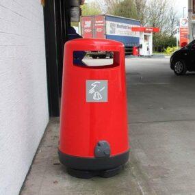Урна для мусора красного цвета Glasdon Topsy 90 литров