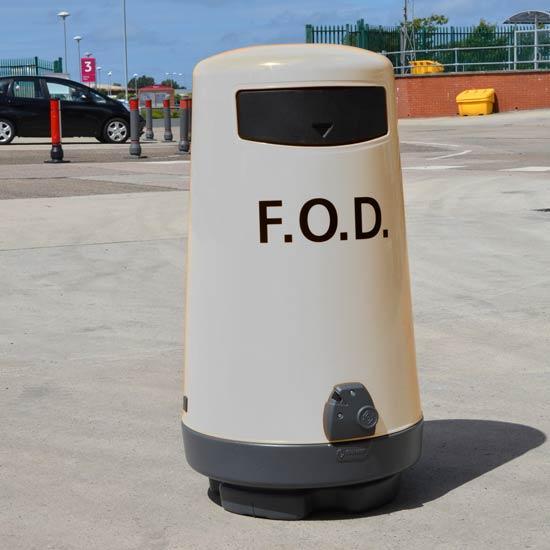 Белая мусорная урна Topsy 2000 GLASDON