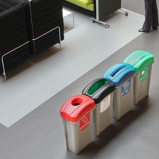 Внутренние раздельные урны для сбора мусора ECO NEXUS 85 литров