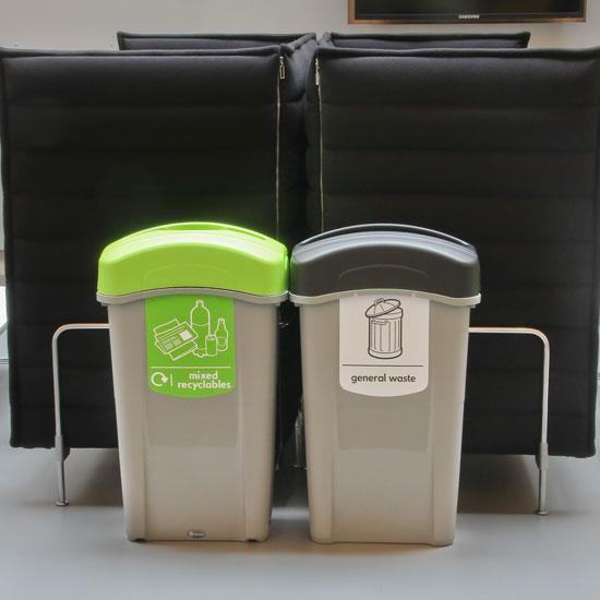 Урны для перерабатываемого и бытового мусора 85 литров ECO NEXUS GLASDON