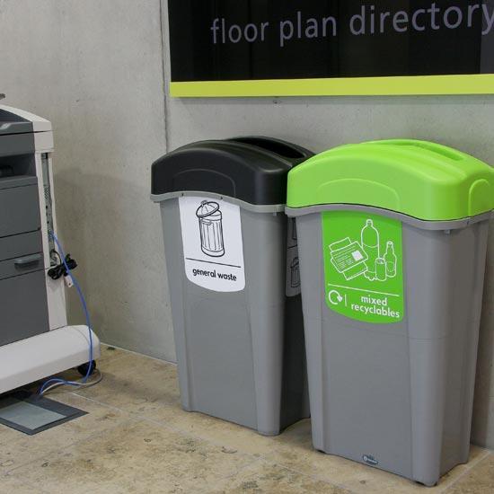Урны для общего мусора и переработки GLASDIN 85 литров