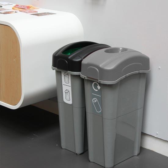 Урны мусорные для раздельного сбора в помещениях 85 литров GLASDON NEXUS