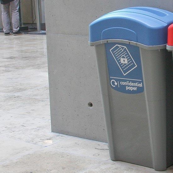 мусорная урна с замком для сбора документов и конфиденциальной переписки ECO NEXUS 85