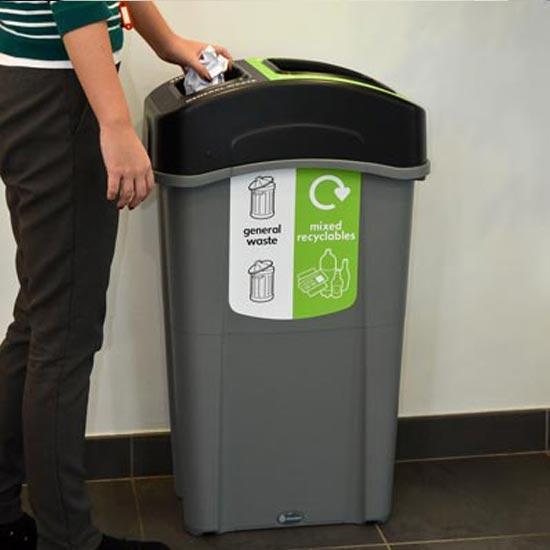 Узкая высокая урна для раздельного сбора мусора ECO NEXUS DOU 85