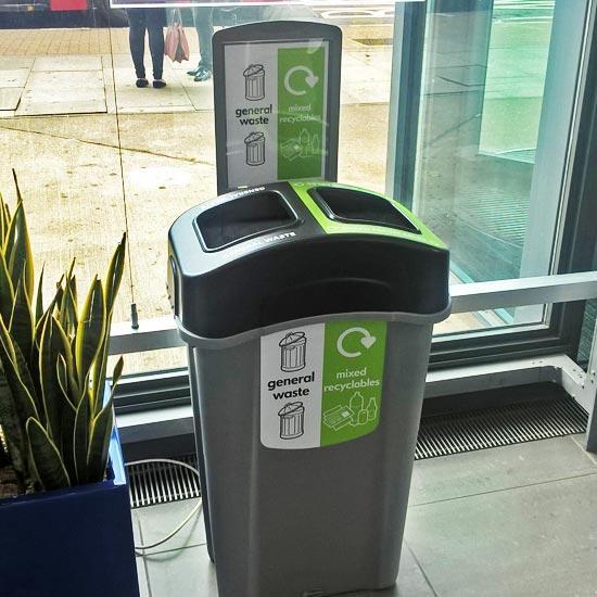 Урна для 2 видов мусора в помещениях ECO NEXUS DUO 85