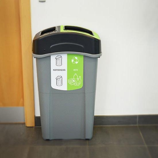 Внутренняя урна для раздельного сбора мусора ECO NEXUS DUO 85