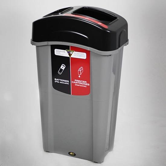 Урна для 2 типов мусора в одном баке ECO NEXUS DUO 85