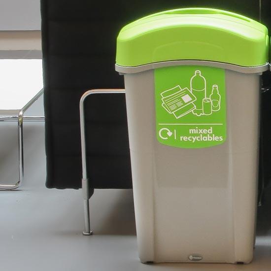 Урна для смешанного бытового мусора GLASDON ECO NEXUS 85 литров