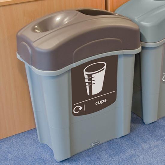 Урна для сбора ПЭТ стаканчиков с резервуаром для жидкости ECO NEXUS Cap 60