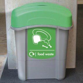 Мусорная урна коридорная с крышкой Eco Nexus food waste