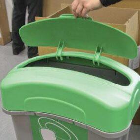 Закрытая крышка мусорной урны Eco Nexus food 60 литров