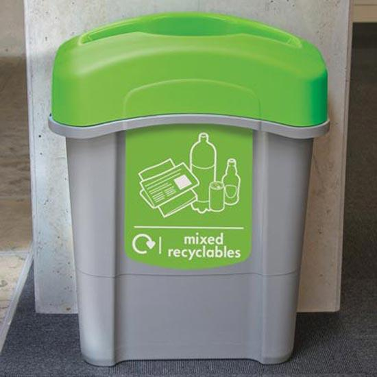 Урна коридорная для сортируемого мусора ECO NEXUS 60 Mixed