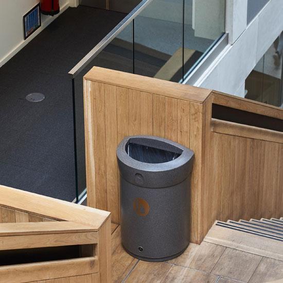 Внутренние коридорные офисные урны ENVOY с открытым верхом
