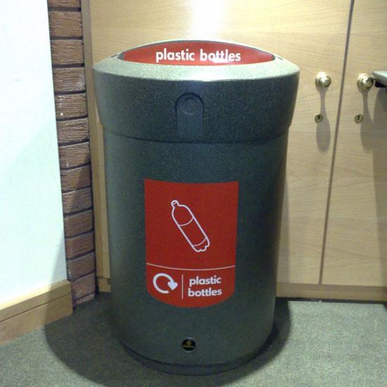 Раздельная мусорная урна для пластиковых бутылок ENVOY 110 литров GLASDON