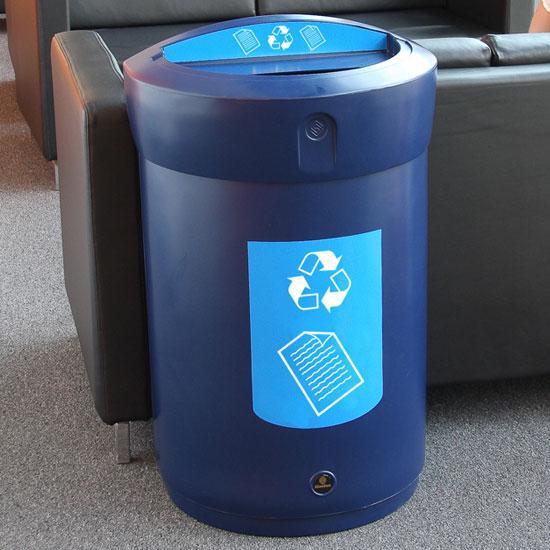 Урна для помещений под бумагу, газеты и журналы объем 110 литров GLASDON