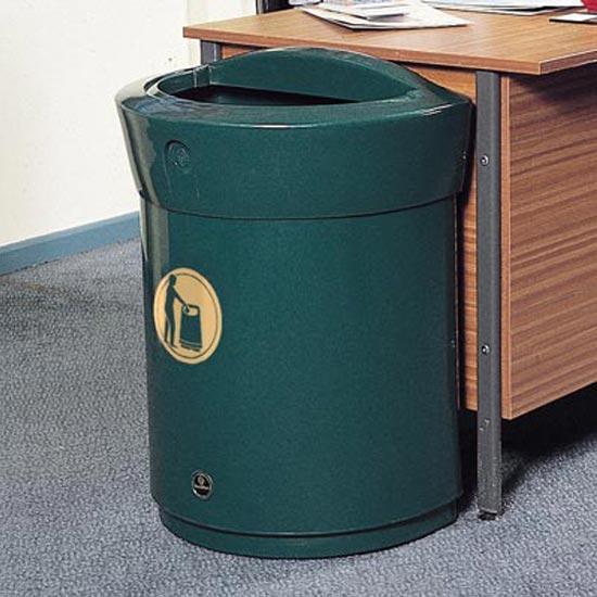 Урна мусорная D-образная кабинетная Envoy 90 зеленая