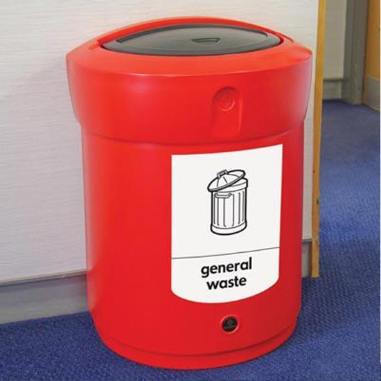 Нажимная урна для сбора мусора в помещениях ENVOY 90