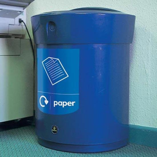 D-образная мусорная урна для сбора бумаги в помещениях ENVOY GLASDON