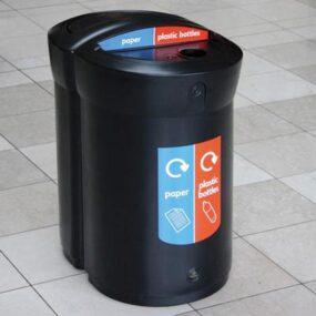 Большая внутренняя урна для раздельного сбора 2 вида мусора ENVOY 110 DUO