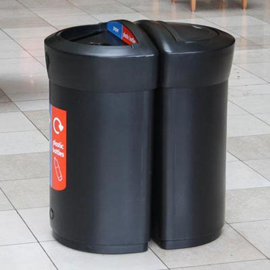 Мусорные урны для раздельного сбора 2 видов мусора GLASDON ENVOY