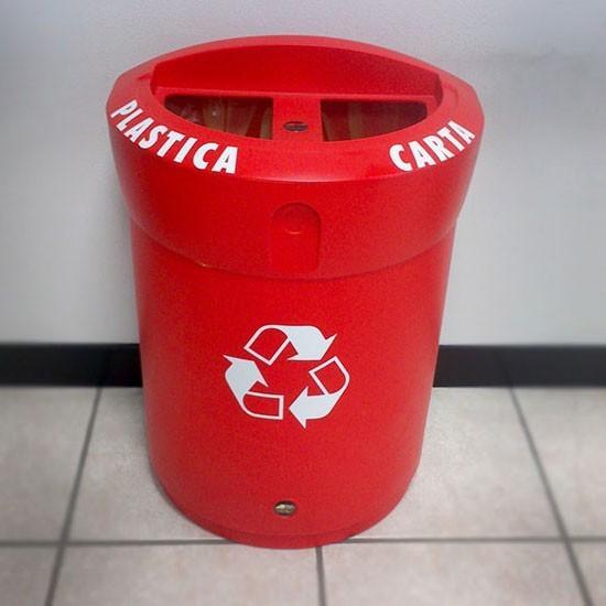 Мусорная урна для двух видов мусора в одном баке ENVOY DUO