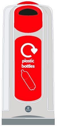 Узкие урны для пластика NEXUS 50 Plastic