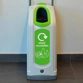 Узкая коридорная урна для сортируемого мусора NEXUS 30 Mixed