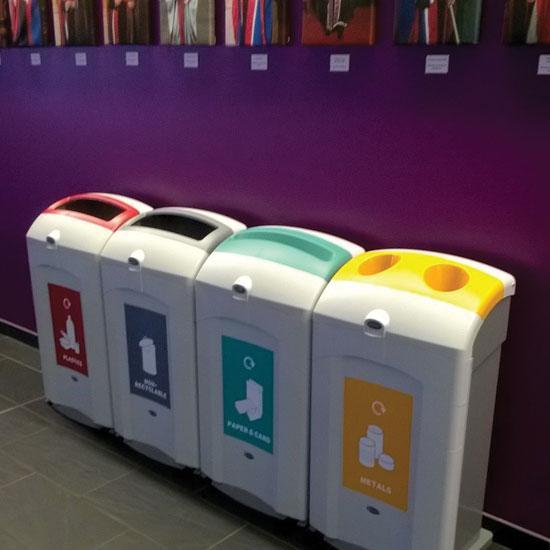 100 литровые мусорные урны под разные виды Glasdon Nexus 100