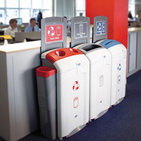 Урны для раздельного мусора с емкостью для жидкости Glasdon Nexus 100 литров
