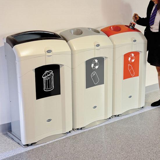 Урны для мусора в помещениях NEXUS 100 литров Glasdon