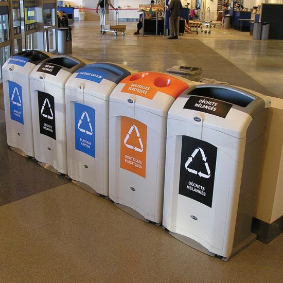 Раздельные урны для мусора Glasdon Nexus 100 разноцветные