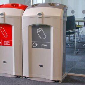 Урна-контейнер для сбора алюминиевых банок в помещениях NEXUS 100 GLASDON