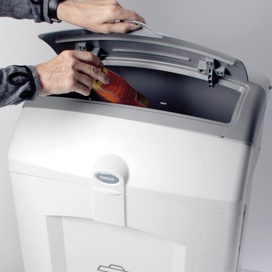 Урна с закрытой крышкой для сбора мусора в помещении NEXUS 100 GLASDON